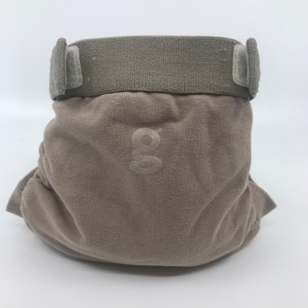gDiapers Small m/pouch Groundhog Brown